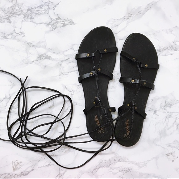 "Seychelles Shoes - Seychelles ""Gawk"" Lace Up Sandals (40)"